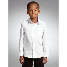 6740c6e04b9f John Lewis   Partners Heirloom Collection Boys  Plain Textured Herringbone  Shirt
