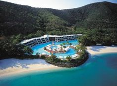 Top Resort And Spa In The World - Hayman Island Resort – Hayman Island, Great Barrier Reef, Australia Places Around The World, Oh The Places You'll Go, Places To Travel, Places To Visit, Romantic Destinations, Honeymoon Destinations, Australia Destinations, Great Barrier Reef, Beach Resorts