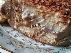 Γλυκό ψυγείου με μπισκότα και τριμμένη σοκολάτα της Gretel συνταγή από I❤to Cook by Rania - Cookpad Greek Recipes, Deserts, Pie, Cream, Cooking, Ethnic Recipes, Food, Georgia, Torte
