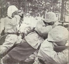 Finnish observer and 2 sharpshooter ready to give some headaches for the Soviets 1939-1940