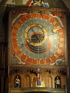 The astronomical clock, Lund Cathedral,  Sweden    Made at the end of the 14th century. After it had been in storage since 1837, it was restored and put back in place in 1923