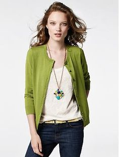 Anna Cardigan | Banana Republic with lace top