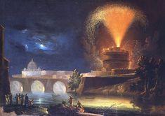 Ignoto, Girandola a Castel S.Angelo   Museo di Roma in Trastevere