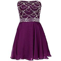 Dresstells Short Bridesmaid Dress Homecoming Dress with Beadings ($100) ❤ liked…