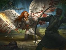 Clone Wars Discover Clip Wings Howard Lyon Fine Art and Illustration Possibly a scene with Casca or just one of the group fighting a raid of Light Angels and/or Dark Angels Fantasy Inspiration, Character Inspiration, Character Art, High Fantasy, Fantasy World, Magic The Gathering, Mtg Art, Ange Demon, Fantasy Warrior