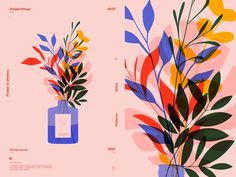 Flowers Vaze designed by Rokas Aleliunas. Connect with them on Dribbble; the global community for designers and creative professionals. Floral Illustration, Graphic Design Illustration, Yoga Illustration, Business Illustration, Hansel Y Gretel, Design Typography, Vintage Poster, Design Poster, Illustrations