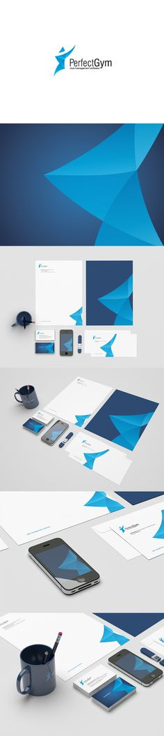 Perfect Gym by Motyf , via Behance. Branding for fitness clubs management software.