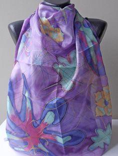 Handmade silk scarf Silk Scarf Hand PaintedThe by MarijanaSilk, $36.00