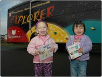 Pierce County (Wash.) Library, Explorer Kids' Bookmobile. Stopping service in Nov. 2012.