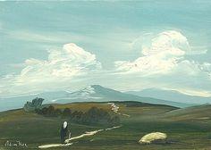 Adam Kos- On My Way  #art #painting #Westmeath #path #road #cottage #Ireland #DukeStreetGallery Irish Painters, Street Gallery, Irish Art, Kos, Paths, Ireland, Cottage, Landscape, Portrait