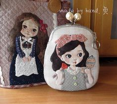 Best 12 Not that I need a coin purse… but if I did… – SkillOfKing. Japanese Patchwork, Japanese Bag, Patchwork Bags, Quilted Bag, Applique Quilts, Embroidery Applique, Diy Quilting Frame, Pencil Case Pouch, Frame Purse