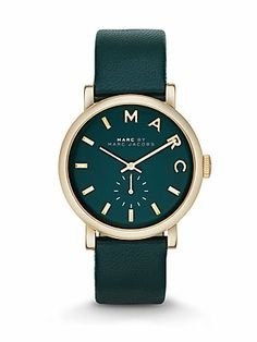 Marc by Marc Jacobs Goldtone Stainless Steel & Leather Watch/Teal
