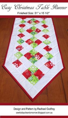 Easy Christmas Table Runner | Craftsy