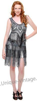 womens flapper costumes dress   Black Fringe 1920's Flapper Costume – Women's Vintage Dress