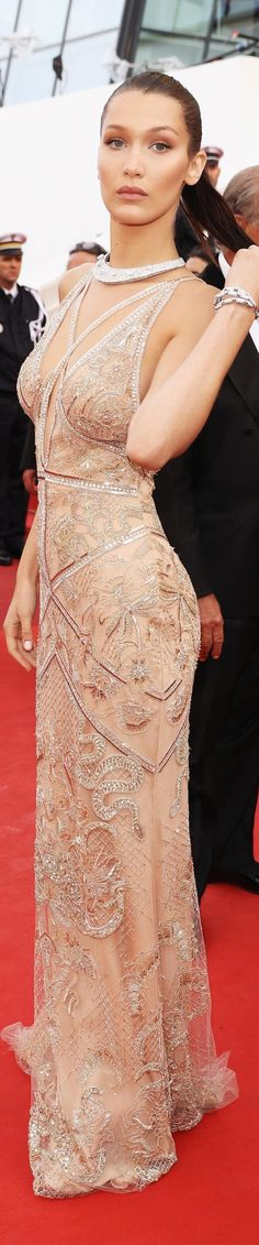 Bella Hadid in Roberto Cavalli Couture‬ Cannes 2016