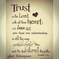 REDE MISSIONÁRIA: TRUST IN THE LORD (PROVERBS 3:5-6)
