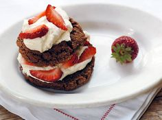 This is part of what we are having for Easter dessert!  Chocolate Strawberry Shortcake on http://www.elanaspantry.com