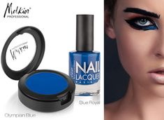 blue style makeup nails melkior