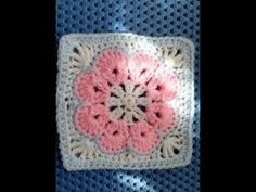 African Flower easy crochet square tutorial - YouTube Easy Crochet, Free Crochet, Knit Crochet, Crochet Granny, Crochet African Flowers, Crochet Flowers, Half Double Crochet, Single Crochet, Flower Granny Square