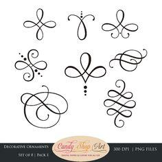 Instant Download Kalligraphie Ornaments von CandyShopDigitalArt