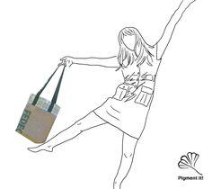 """Cabas """"Le Recyclé"""", Grand sac à main réversible en  tissu  recyclé, cabas, sac à main de la boutique Pigmentit sur Etsy"""