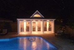 Windsor Pool House | Summerwood Backyard Cabana, Backyard Studio, Pool Cabana, Garage Studio, Barn Garage, Home Studio, Outside Pool, Barn Kits, Cubby Houses