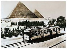 Tramway Des Pyramides 1910's (Got Colored)