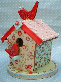 Ditsy Bird House by neviepiecakes, via Flickr