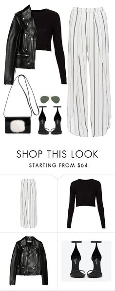 """""""Untitled #85"""" by simonakolevaa ❤ liked on Polyvore featuring Faithfull, Topshop, Yves Saint Laurent and Ray-Ban"""