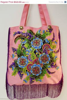 Welcome Spring Sale Canvas Tote Custom Design Hand by paulagsell, $41.60