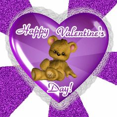 a nice way to reach out and wish everyone a Happy Valentine's Day! Happy Valentines Day Gif, Valentine Images, Valentines Day Photos, Valentines Day Party, Photos Saint Valentin, Gif Fete, Bling Wallpaper, Teddy Bear Cartoon, Animated Heart