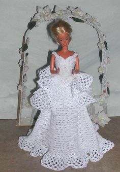 Crochet Fashion Doll Barbie Pattern 480 by JudysDollPatterns: