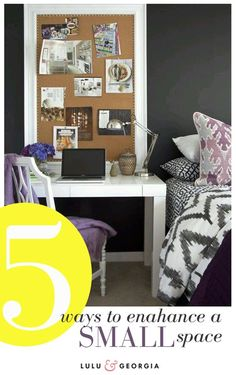 5 Ways To Enhance a Small Space #smallspace #studio #apartment #decorating #tips (for when you me max and john are crammed in a studio apartment trying to make ends