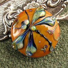 Love this gorgeous lampwork glass dragonfly bead!