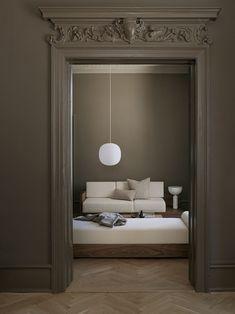 Lantern Pendant Lighting, Pendant Lamp, Pendant Lights, Parisian Apartment, White Table Lamp, Interior Photography, Kitchen Collection, New Words, Interiores Design