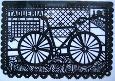 #Bicycle-Inspired Paper Art