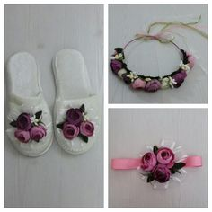 Lohusa seti, lohusa tacı, lohusa terliği, hamile terliği, hamile tacı Bedroom Slippers, Minion Party, Baby Hacks, Beautiful Bedrooms, Diy And Crafts, Baby Shoes, Projects To Try, Patches, Pouch