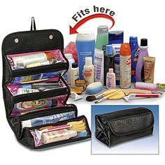 Roll up cosmetic bag or organize useful things for bug out bag