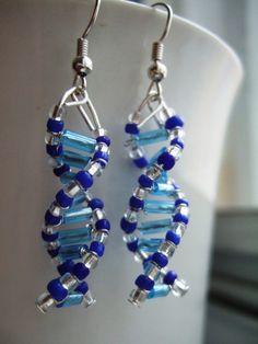 DNA Helix earrings - such an awesome-nerdy stuff! DFTBA!