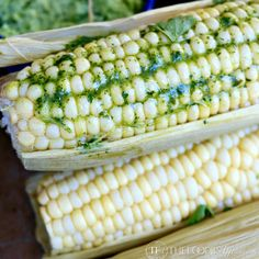 Slow Cooker Corn on the Cob with Cilantro Lime Butter Recipe - RecipeChart.com