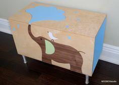 plywood children's toybox - Google Search
