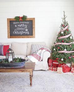 Christmas Chalkboard Art for Rustic Christmas Living Room Decor. Farmhouse style Christmas decor