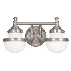 Livex Lighting Oldwick Brushed Nickel Bathroom Light | 5712-91 | Destination Lighting
