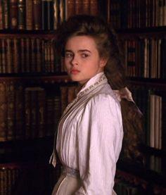 #helena #bonham #carter #victorian #costume #fashion #blouse #library