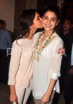 Hot! Anushka gets a tight kiss from Deepika.
