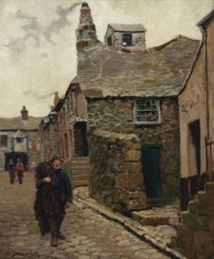 Oldest House at St Ives Cornwall England ~ Abbott Fuller Graves ~ (American Polperro Cornwall, St Ives Cornwall, Devon And Cornwall, Cornwall England, Unusual Buildings, Old Building, Sketchbook Inspiration, Places Of Interest, British Isles