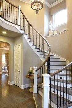 Modern Staircase Foyer Remodels And Restorations - - House Stairs, Staircase Remodel, House, Modern Staircase, Home, Staircase Railings, Remodel, Hardwood Stairs, Modern Staircase Railing