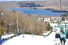 Enjoy the beautiful view of Delta Lake when you're on the slopes of Woods Valley, NY #oneidacountyny