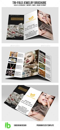 Tri Fold Brochure Template PSD Brochure Templates Pinterest - jewelry brochure