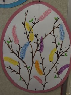 Pääsiäinen Art For Kids, Crafts For Kids, Diy Crafts, Easter Arts And Crafts, Spring Art, Art Lesson Plans, Holiday Festival, Teaching Art, Elementary Art